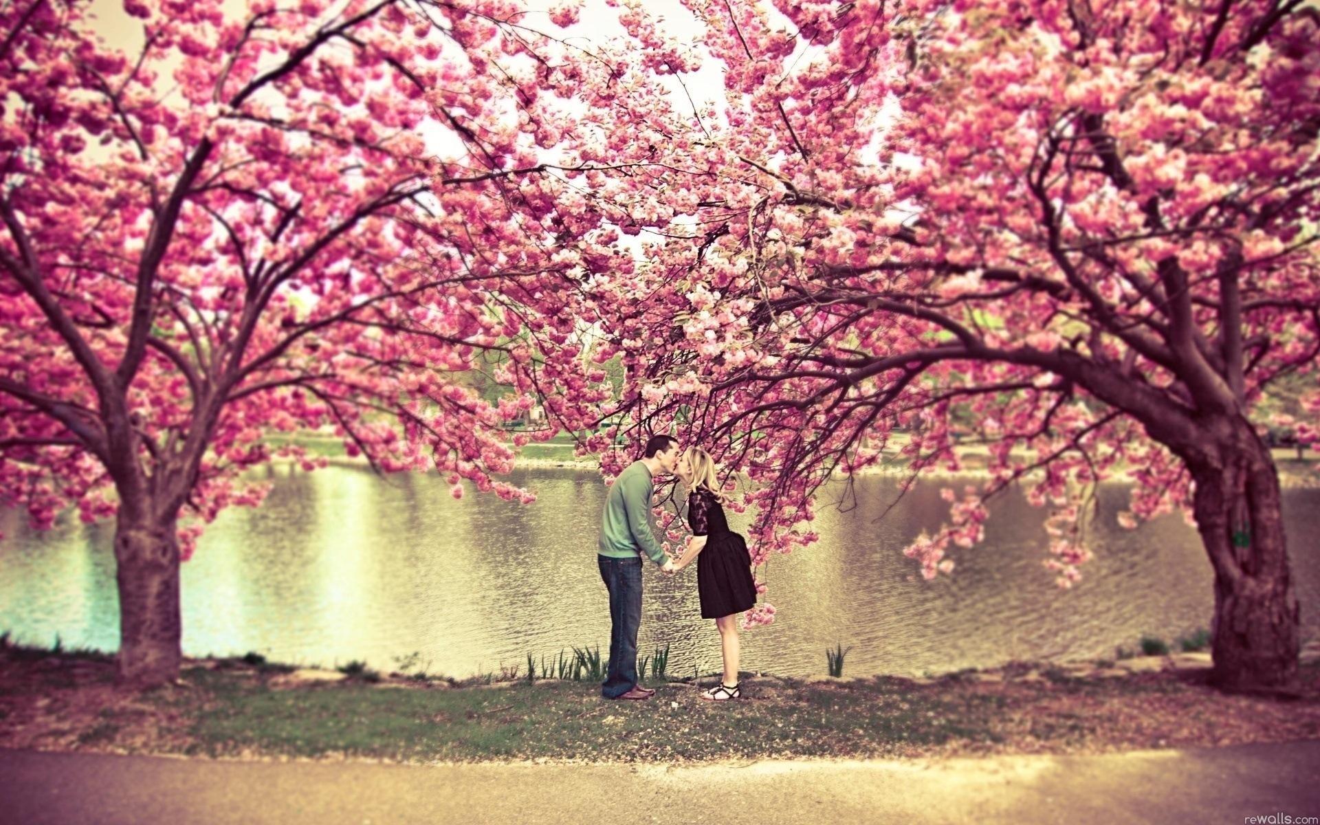 Природа пейзаж весна любовь парочка