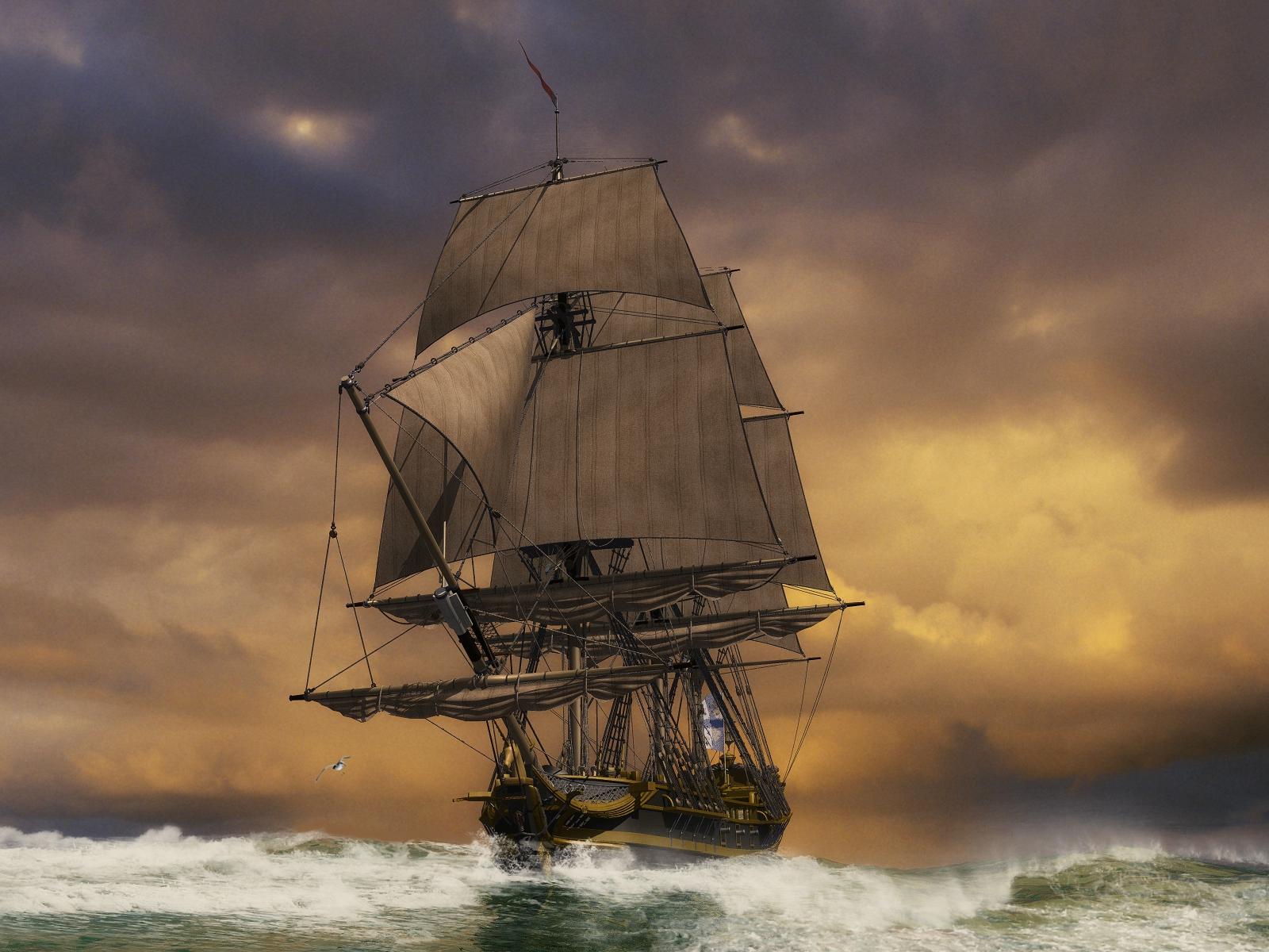 Парусные Корабли Обои На Рабочий Стол