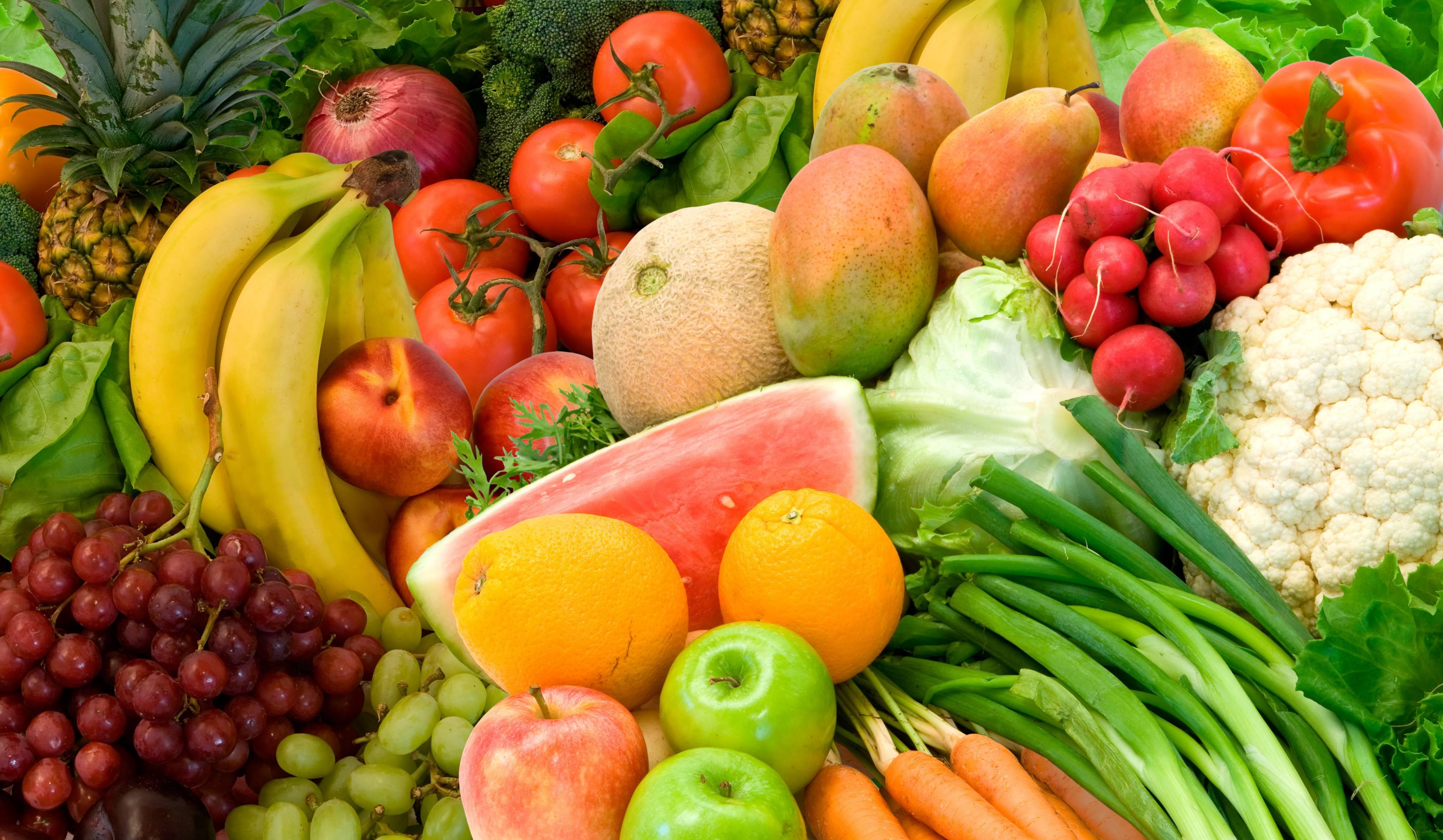 Природа пейзаж лето фрукты овощи еда