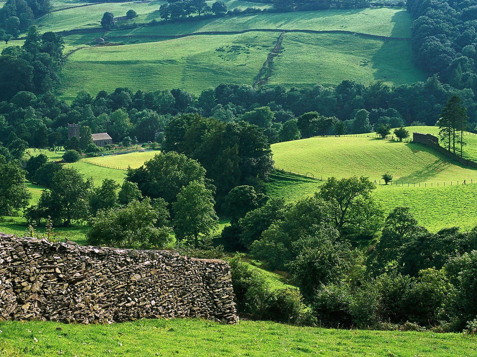 Города страны англия hills of troutbeck lake